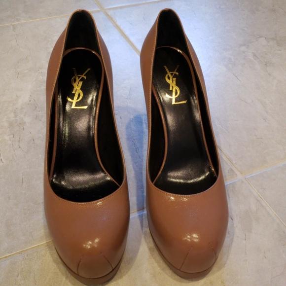 141ee5a72da Yves Saint Laurent Shoes | Trib Too Dark Nude Pump | Poshmark